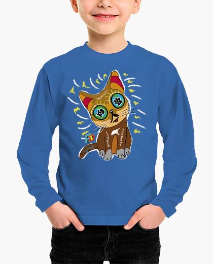 Vêtements enfant chemise enfant chat