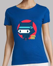 chemise femme chat ninja (divers modèles et couleurs)