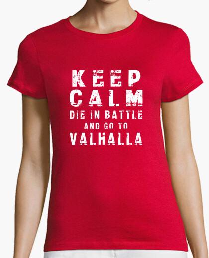 Tee-shirt chemise fille à keep le die calm die dans la bataille