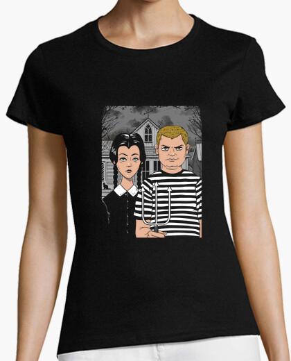 Tee-shirt chemise gothique des frères et sœurs femmes