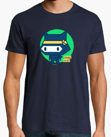 Tee-shirt chemise homme chat ninja (divers modèles et couleurs)