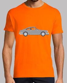 chemise homme de voiture classique, manches courtes, orange, qualité extra