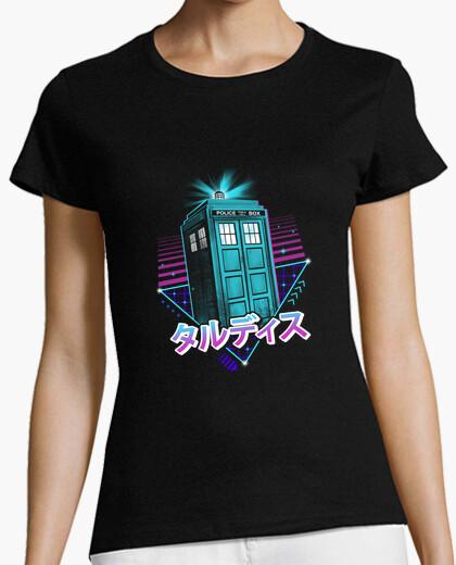 Tee-shirt chemise lofi time machine femme