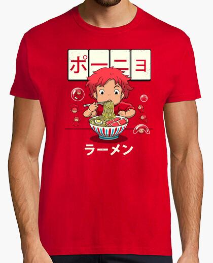 Tee-shirt chemise ramen poisson rouge homme