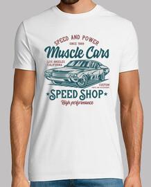 chemise rétro de muscle cars vintage