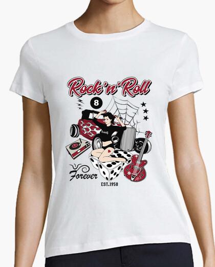 Tee-shirt chemise rétro pin up rockabilly hot rod 50s