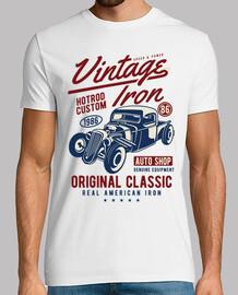 chemise retro voitures hotrod vintage