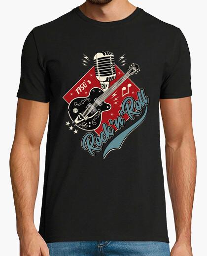 Tee-shirt chemise Rocker vintage des années 50 rockabilly