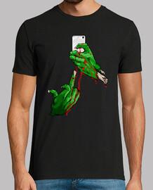 chemise squelette selfie heavy metal