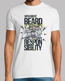 chemise viking barbe rétro vintage