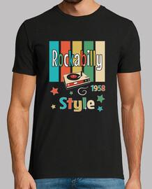 chemise vintage de musique rockabilly 1958