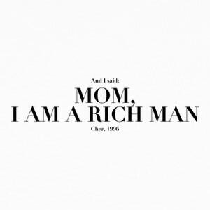 Tee-shirts cher maman je suis un man riche