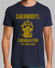 Chernobyl Liquidator, manga corta, azul marino, calidad extra