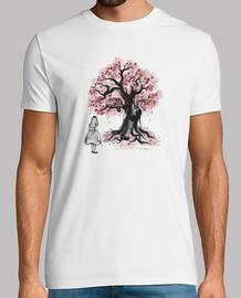 cheshires the tree sumi-e (monochrome)