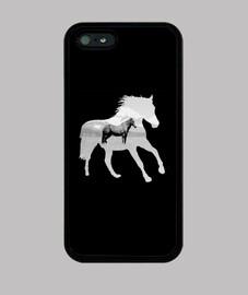 cheval calme - couverture d'iphone 4/5