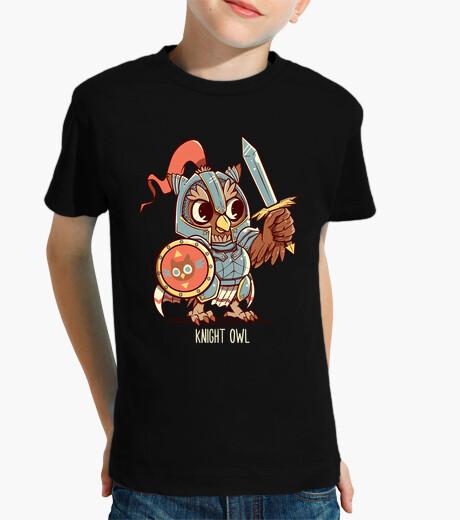 Vêtements enfant chevalier hibou animal pun shirt - shirt enfant