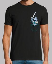 chevalier noir de poche - chemise pour hommes