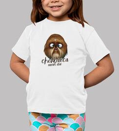 chewbacca never die -women, short sleeves, white