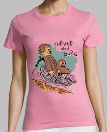 chewie et chemise de porg femmes
