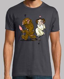 Chewie Leia camiseta