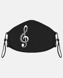 chiave di violino e pianoforte bianco
