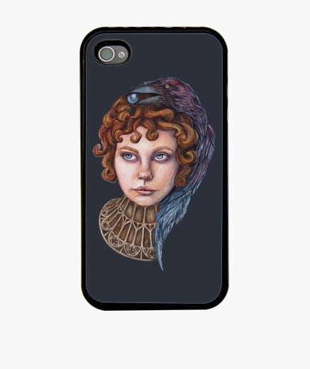 Funda iPhone chica acuarela cuervo