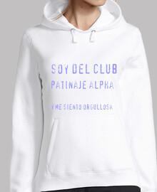 Chica, jersey con capucha, blanco