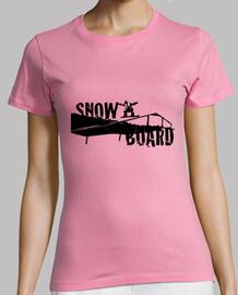 chica snowboard
