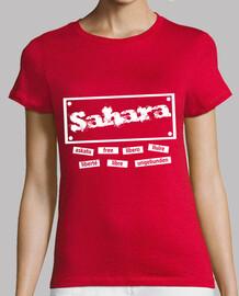 CHICA.Sahara libre en todo el mundo(blanco)