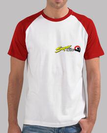 Chico, estilo béisbol, blanca y roja