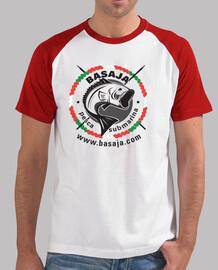 Chico, estilo béisbol, blanca y roja logo negro ikurriña handi