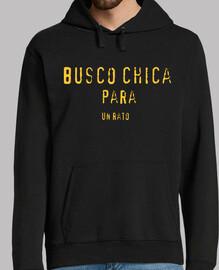 Chico, jersey con capucha, negro