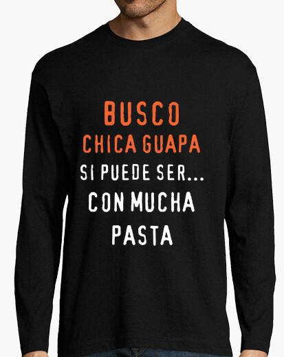 Camiseta Chico, manga larga, negra