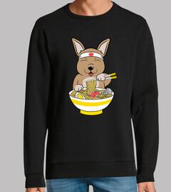 chien chihuahua manger des ramen