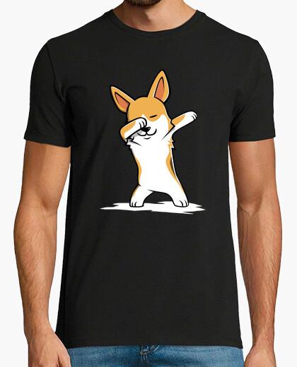 Tee-shirt chien corgi dab!
