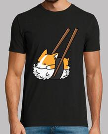 chien corgi sushi