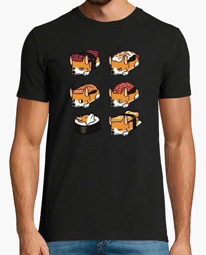 Tee-shirt chien corgi sushi nigiri