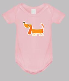 chien de  femme  de bébé modèle de corps.