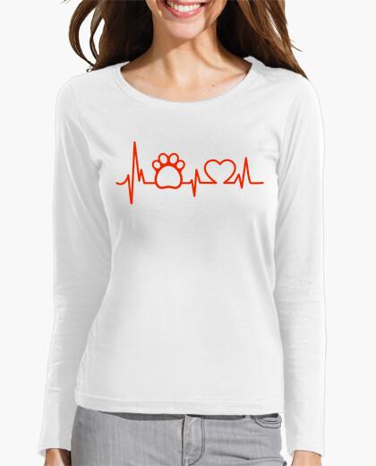 Tee-shirt chien de coeur empreinte