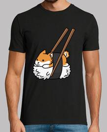 chien shiba inu sushi