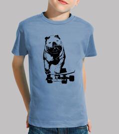 chien skateur