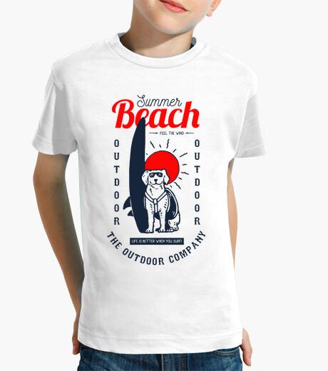 Vêtements enfant chien surfeur