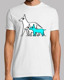 chiens - bleu