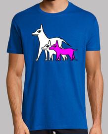 chiens - rose