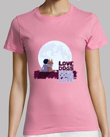 chiens d'amour   women t-shirt
