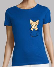 chihuahua del bolsillo - camisa de la mujer