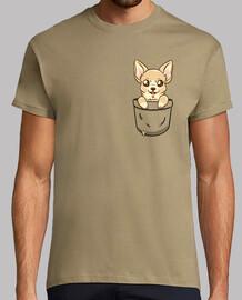 chihuahua del bolsillo - camisa para hombre