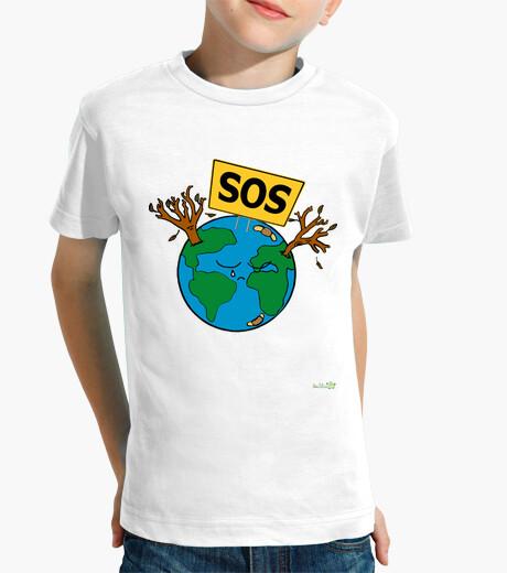 Child t shirt - sos planet earth children's clothes