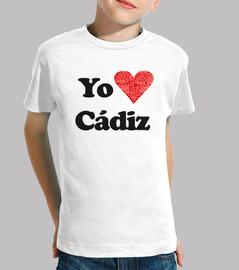 children shirt i love cadiz