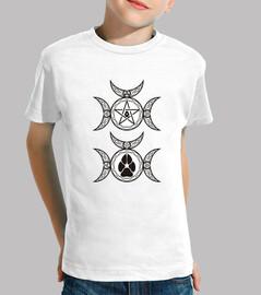 Children shirt wiccan symbol